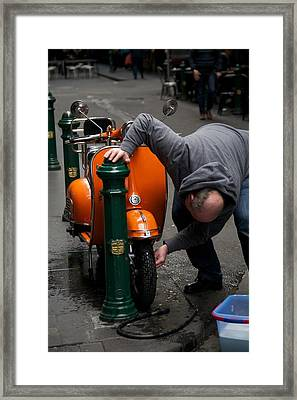 Clean Vespa Framed Print