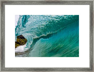 Clean And Glassy Wave 1 Framed Print by Chris and Wally Rivera