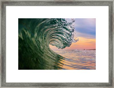 Clean Wave Framed Print by Ryan Moore