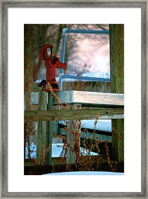Cleaning Station Pump Framed Print by Jame Hayes
