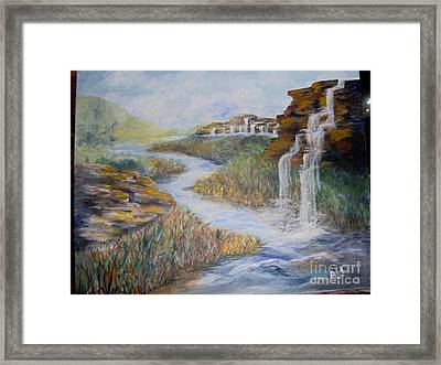 Framed Print featuring the painting Cleansing by Saundra Johnson