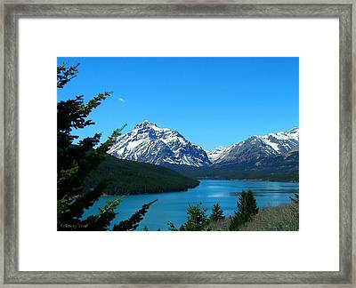 Clear Blue Lower Two Med Lake Framed Print