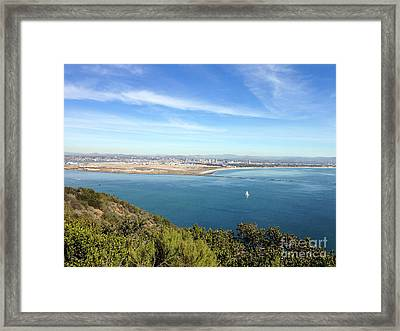Clear Blue Sea Framed Print