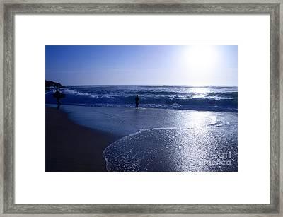 Clear Blue Sunrise By Kaye Menner Framed Print by Kaye Menner