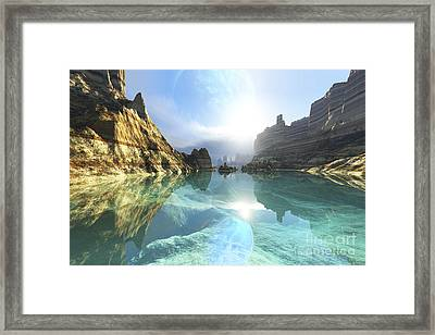 Clear Canyon River Waters Reflect Framed Print