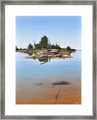 Clear Contentment Framed Print