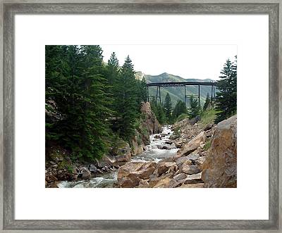 Clear Creek Colorado Framed Print