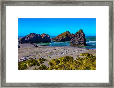 Clear Day At Meyers Beach Framed Print by Garry Gay
