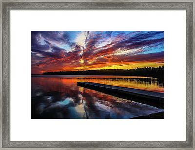 Clear Lake At Sunset. Riding Mountain National Park, Manitoba, Canada. Framed Print