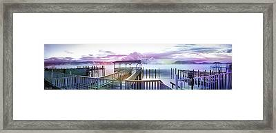 Clouds On Clear Lake Framed Print