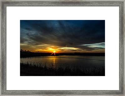 Clear Lake Sunset Framed Print by AllScapes Photography