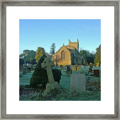 Clear Light In The Graveyard Framed Print