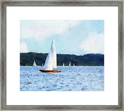 Clear Sailing Framed Print by Shirley Stalter