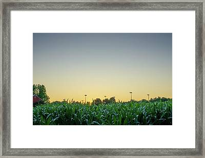 Clear Skies Sunset Framed Print