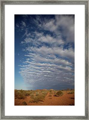 Clear Sky To Clouds Framed Print by Lee Stickels