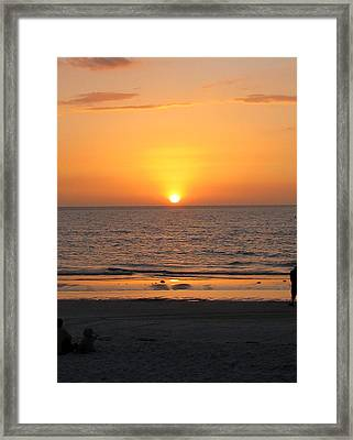 Clear Sunset Framed Print