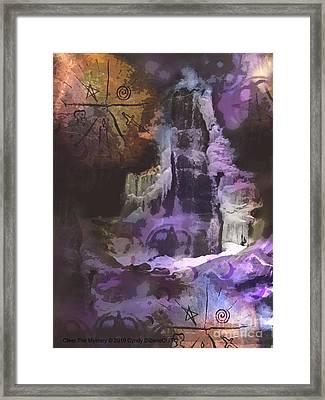 Clear The Mystery Framed Print by Cyndy DiBeneDitto
