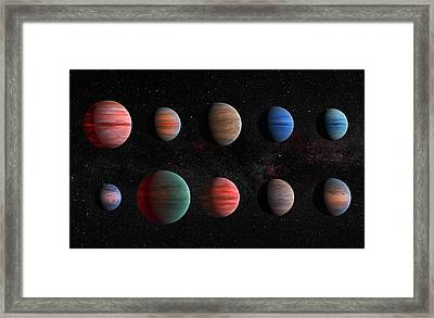 Clear To Cloudy Hot Jupiters Framed Print
