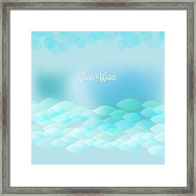 Clear Water Framed Print by Alain De Maximy