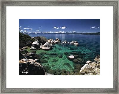 Clear Water Lake Tahoe Framed Print by Vance Fox