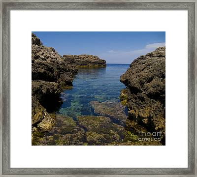 Clear Water Of Mallorca Framed Print