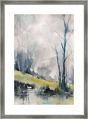 Clearing By The Riverbank Framed Print