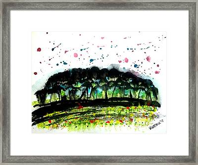 Clearing In The Woods  Framed Print