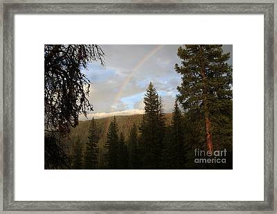 Clearing Rain And Rainbow Framed Print