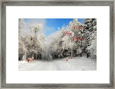 Clearing Skies Christmas Card Framed Print by Lois Bryan