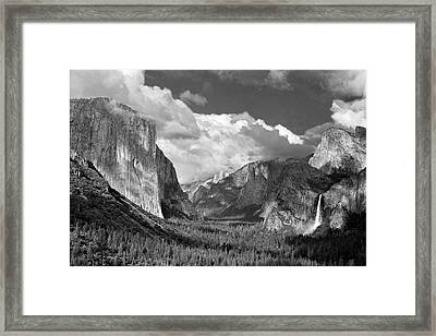 Clearing Skies Yosemite Valley Framed Print by Tom and Pat Cory