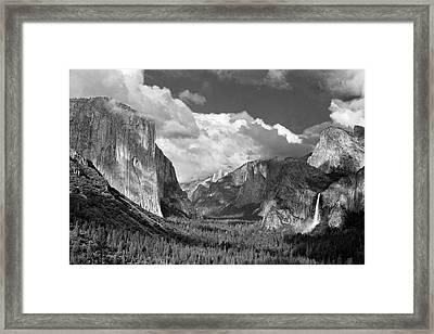 Clearing Skies Yosemite Valley Framed Print