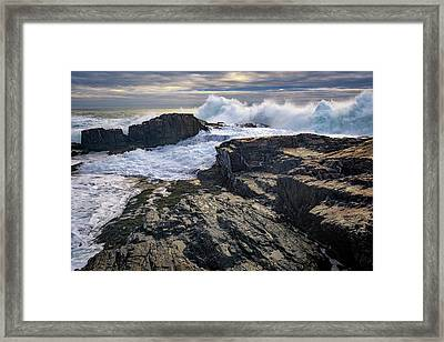 Clearing Storm At Bald Head Cliff Framed Print by Rick Berk