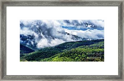 Framed Print featuring the photograph Clearing Storm Highland Scenic Highway by Thomas R Fletcher