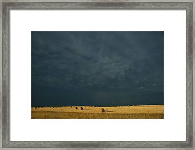 Clearing Storm In Western North Dakota Framed Print by Michael S. Lewis