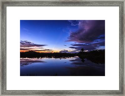 Clearing Storm Over The Anhinga Trail Framed Print by Jonathan Gewirtz