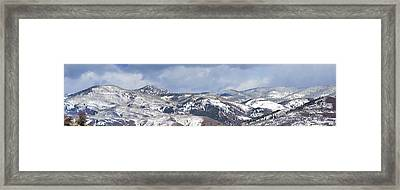 Clearing Storm On Rocky Peak And Hot Springs Framed Print by Daniel Hebard