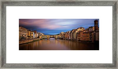 Clearing Storm Over Florence Framed Print by Andrew Soundarajan