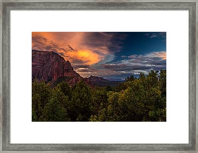 Clearing Storm Over Zion National Park Framed Print by TL  Mair