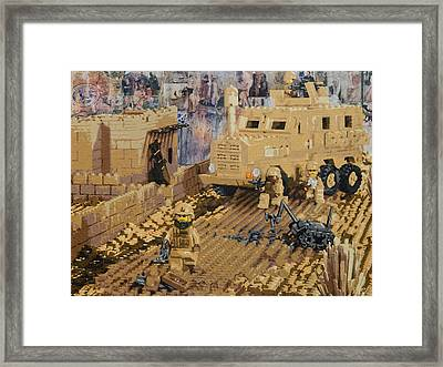 Clearing The Road- Kandahar Province Afghanistan Framed Print by Josh Bernstein