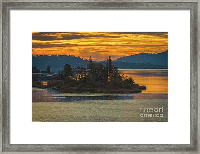 Clearlake Gold Framed Print