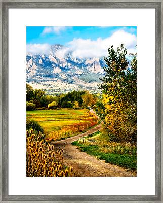 Clearly Colorado Framed Print by Marilyn Hunt