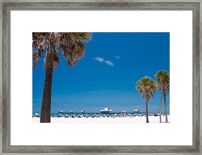 Clearwater Beach Framed Print by Adam Romanowicz