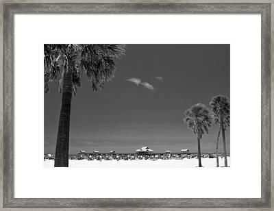 Clearwater Beach Bw Framed Print by Adam Romanowicz