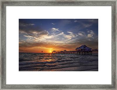 Clearwater Beach Seascape Framed Print by Bill Cannon