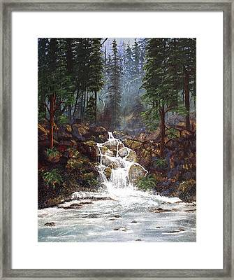 Clearwater Falls Framed Print by Diane Schuster