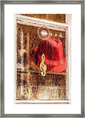 Clef And Hat Framed Print
