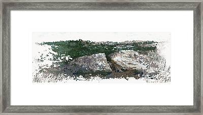 Cleft Rock Framed Print by Ronald Rosenberg