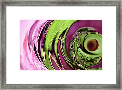 Clematis Eye Framed Print by Linnea Tober