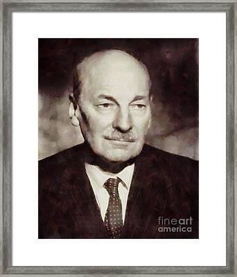 Clement Attlee, Prime Minister United Kingdom By Sarah Kirk Framed Print