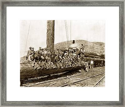 Clemons Logging Company Camp Circa 1925 Framed Print by California Views Mr Pat Hathaway Archives